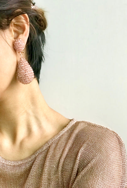 Alexis Drop Earrings -  Dusky Rose