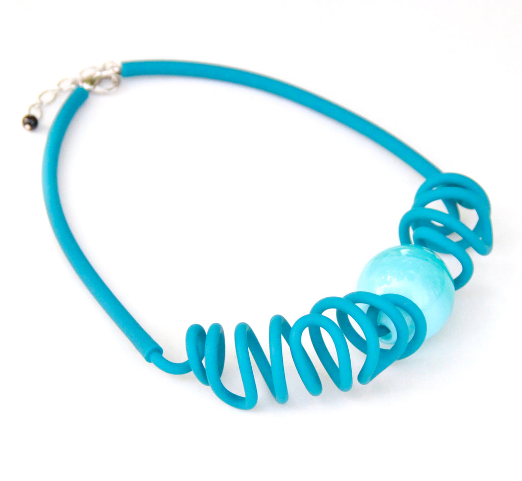 Pool Necklace - Teal Blue