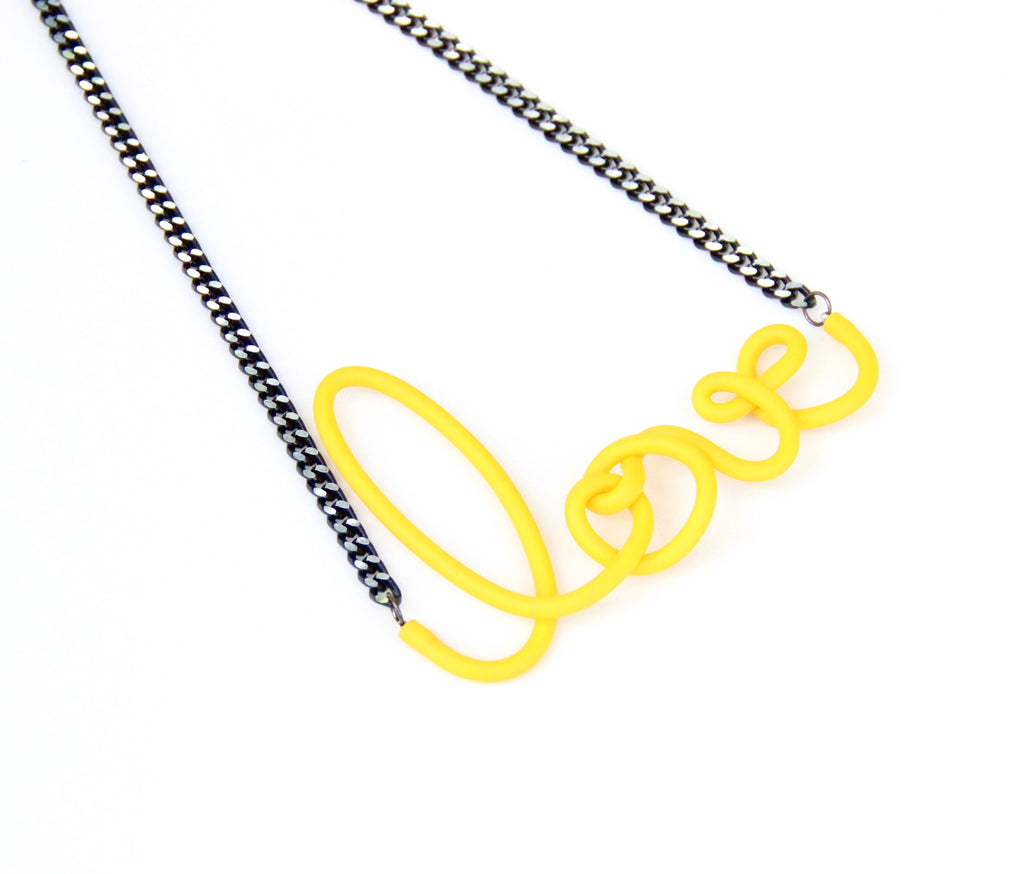 Love Necklace - Yellow