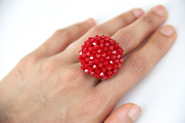 Chloe Ring - Red Garnet