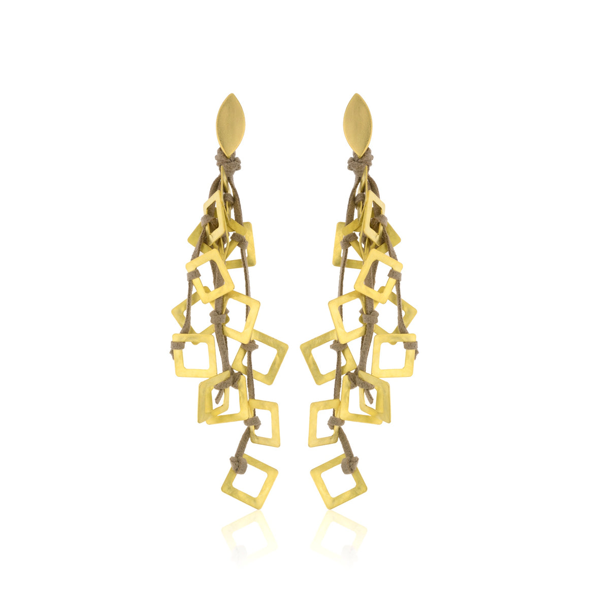 The Suspended Squares Earring