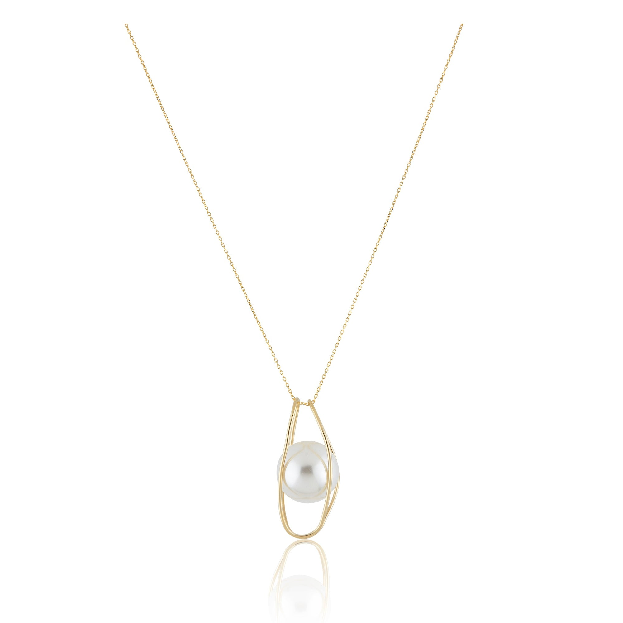 The Capsuled Pearl Necklace - Gold