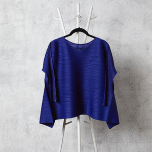 The Side Panelled Top - Blue
