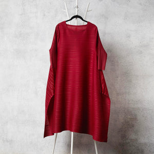 The Side Panelled Tunic Dress - Maroon