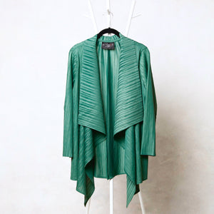 Pleated Mid-length Overlay - Green