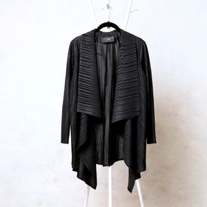 Pleated Mid-length Overlay - Black