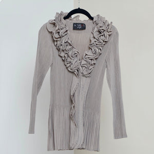 Ruffle Top - Grey Beige