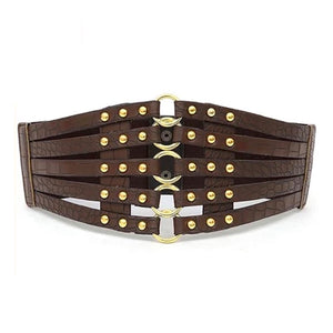 Strapy Corset Belt - Dark Brown