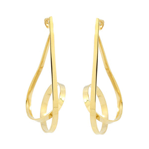 The Curvy Twist Earrings - Gold