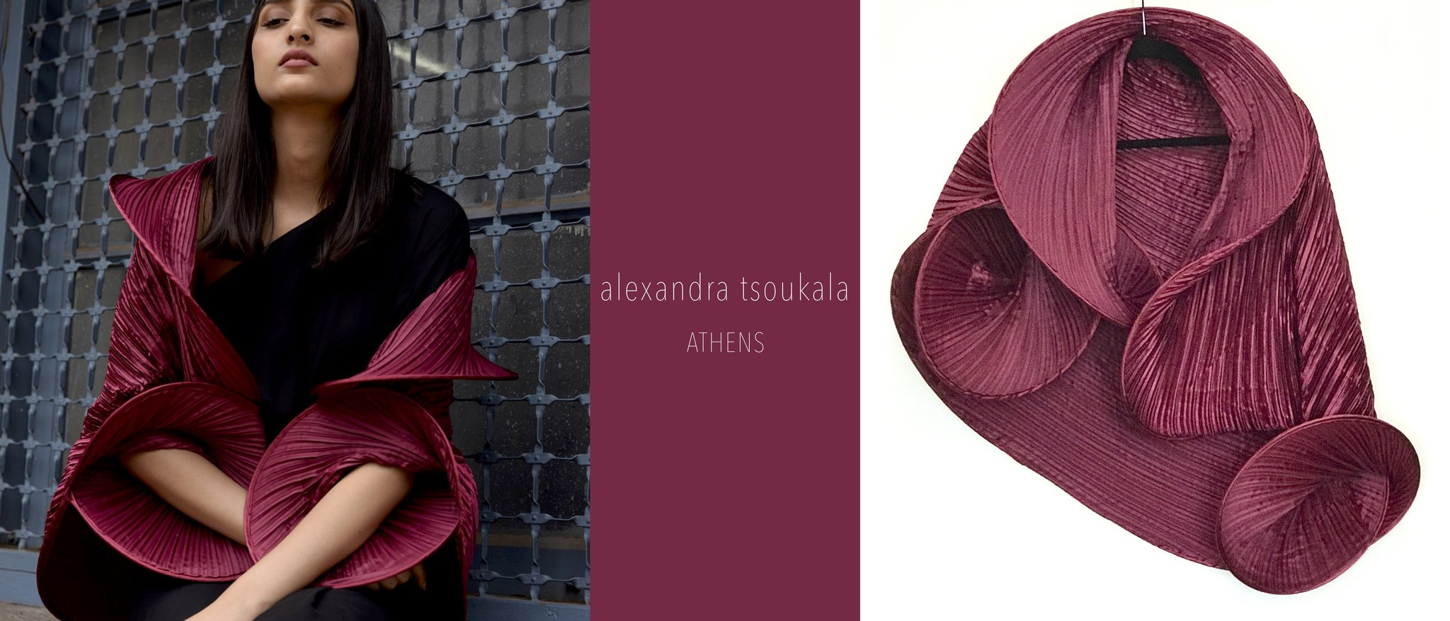 Scarlet Sage, alexander tsoukala, minimum design, statement capes, wraps,