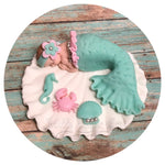 MERMAID BABY SHOWER Cake Topper Party Decorations Mermaid Nursery Mermaid baby shower