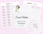 SOCIAL MEDIA PLANNER for the CAKE DESIGNER