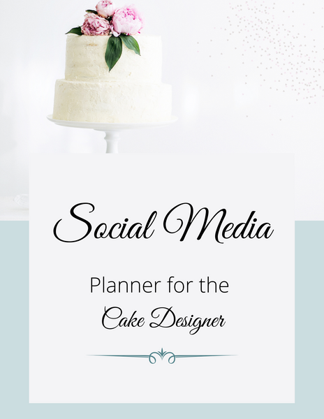SOCIAL MEDIA PLANNER for the CAKE DESIGNER in light BLUE