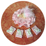 BABY SHOWER CAKE TOPPER Vintage Baby Shower Princess baby fondant cake topper
