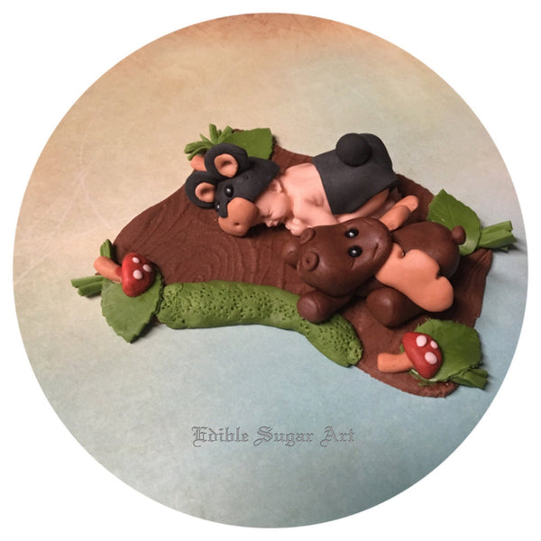 WOODLAND BABY SHOWER Fondant Cake Topper