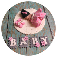 MINNIE MOUSE BABY Shower Fondant Cake Topper
