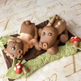 WOODLAND BABY SHOWER Cake topper fondant baby shower cake topper moose baby shower cake topper personalizable baby shower cake topper