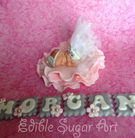 PRINCESS CAKE TOPPER, tiara cake topper, princess baby shower, princess nursery decoration, fondant princess cake topper
