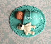 BABY SHOWER Cake TOPPER Teddy Bear