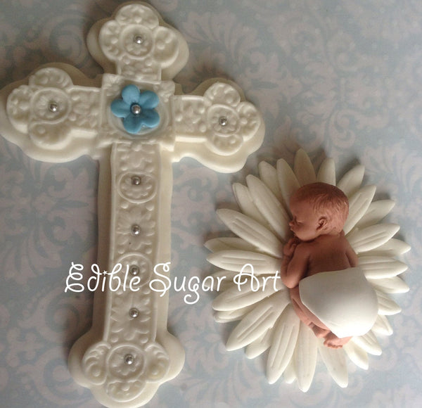 CHRISTENING CAKE TOPPER Boy