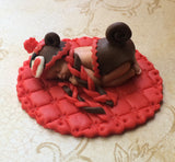 SOCK MONKEY Cake topper
