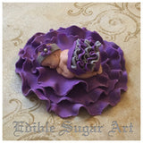 PURPLE BABY SHOWER, Purple cake topper, lavender cake topper, fondant cake topper, fondant baby, Personalized cake topper