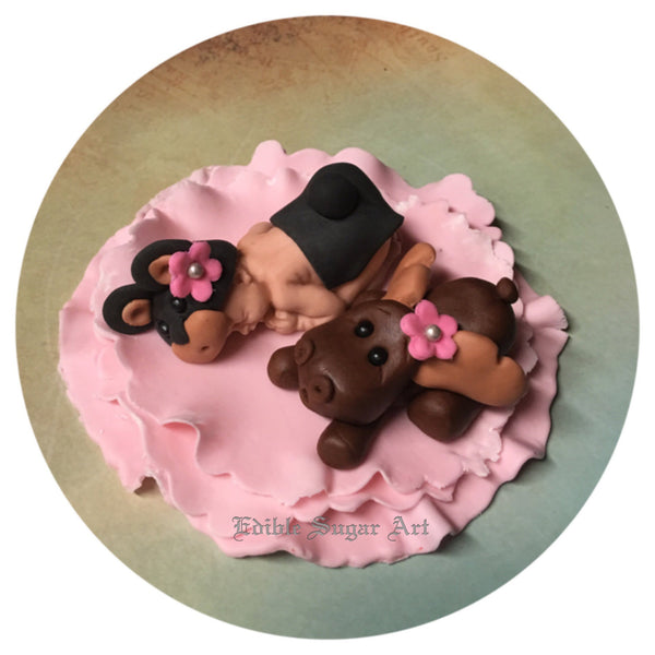 WOODLAND BABY SHOWER Moose  Cake Topper