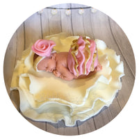 VINTAGE BABY SHOWER CAKE TOPPER Fondant Baby Shower Decorations