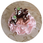 WOODLAND BABY SHOWER CAKE Topper FOX Fondant Baby Shower Decorations