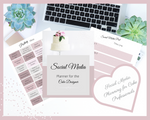 SOCIAL MEDIA PLANNER for the CAKE DESIGNER in Rose