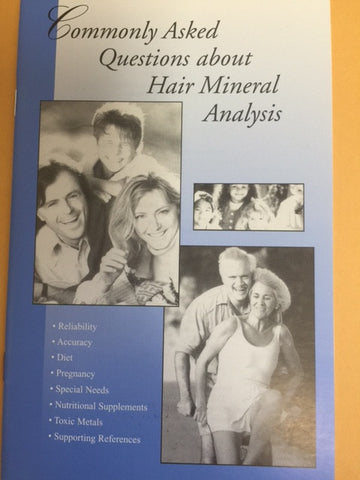 "Hair Tissue Mineral Analysis ""HTMA""  *NOT AVAILABLE FOR PERSONS IN THE STATE OF NEW YORK!!!!"