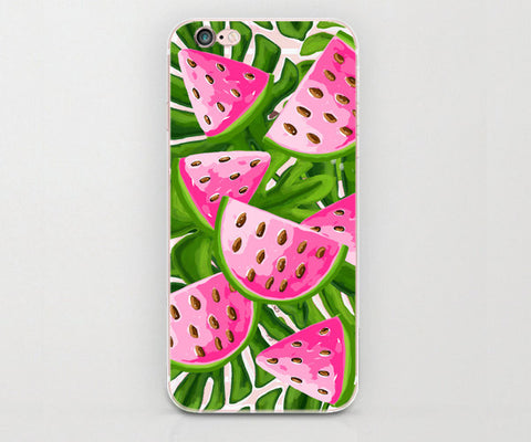 Watercolor  Watermelon clear iphone case