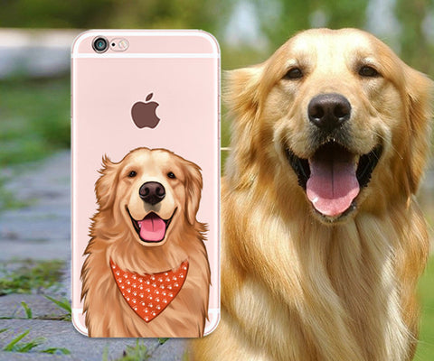 GOLDEN RETRIEVER clear iphone case