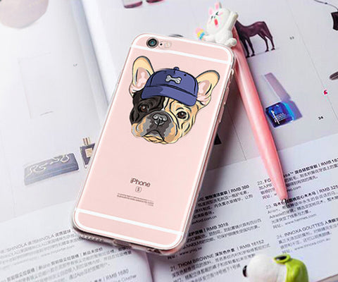 Cool bulldog clear iphone case