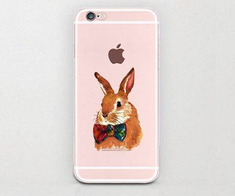 Bow tie Bunny iphone case