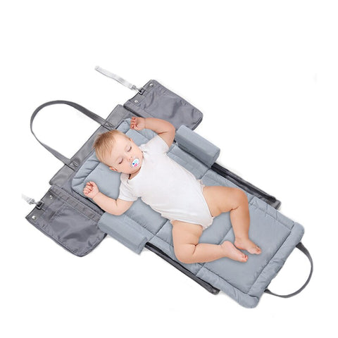 3 in 1 Portable Foldable Baby Bed Travel Crib Infant Cot Newborn