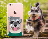 schnauzer clear iphone case