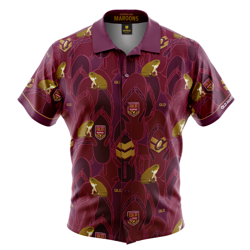 QLD Maroons Adult Hawaiian Shirt
