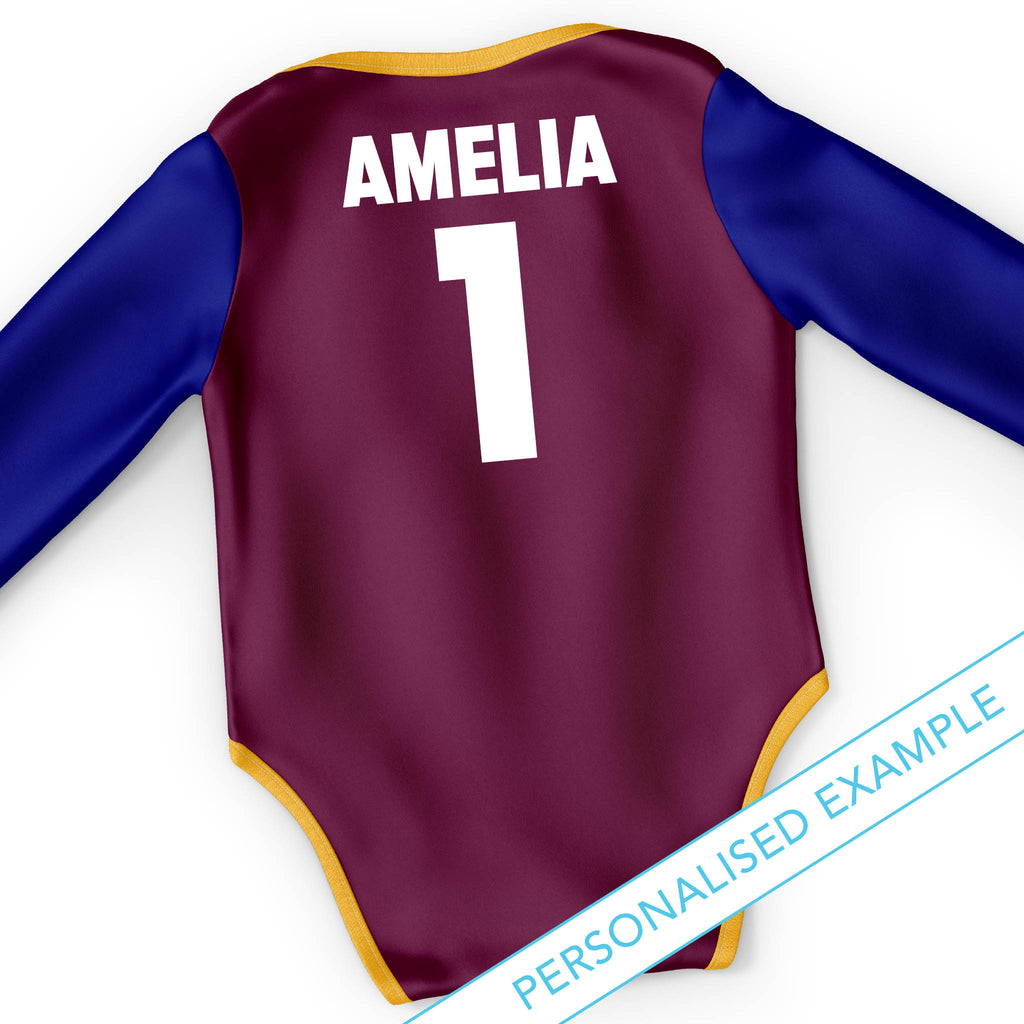 "AFL Brisbane Lions ""Rover"" 3pc Bodysuit Gift Set"