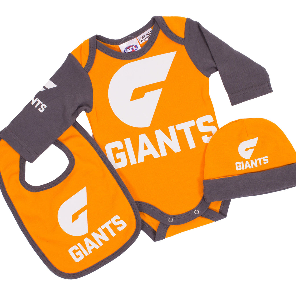 AFL GWS Giants 3pc Bodysuit Gift Set Ashtabula