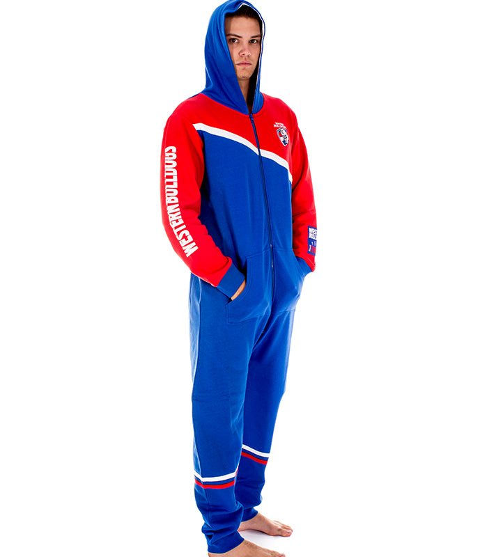AFL Western Bulldogs Adult Onesie AshTabula