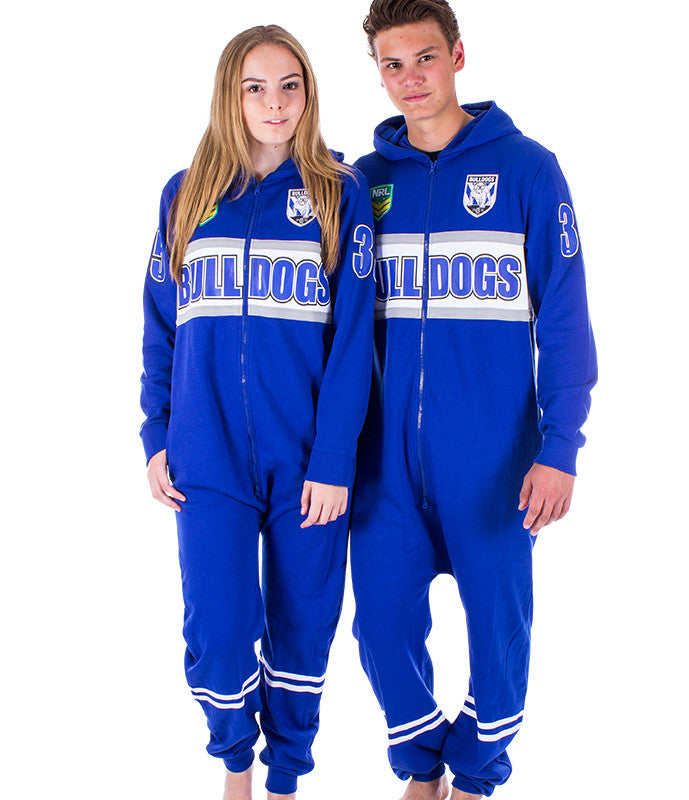 NRL Bulldogs Adult Onesie AshTabula