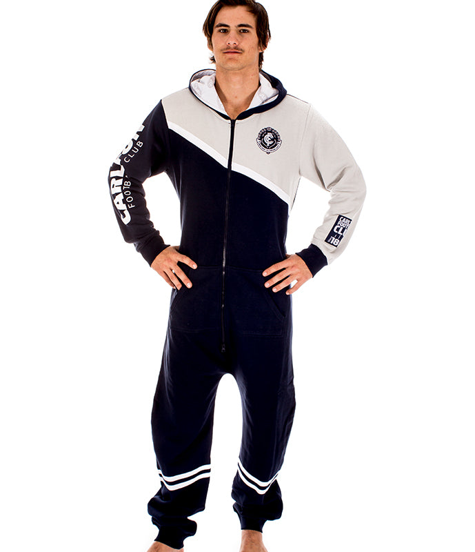 AFL Carlton Adult Onesie AshTabula