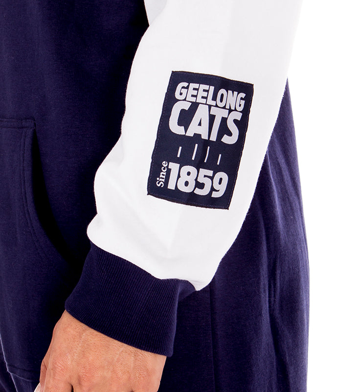 AFL Geelong Cats Adult Onesie Ashtabula