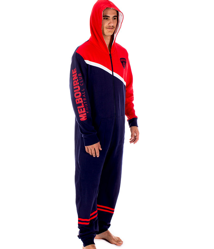 AFL Melbourne Demons Adult Onesie Ashtabula