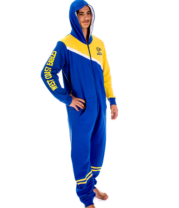 AFL West Coast Eagles Adult Onesie AshTabula
