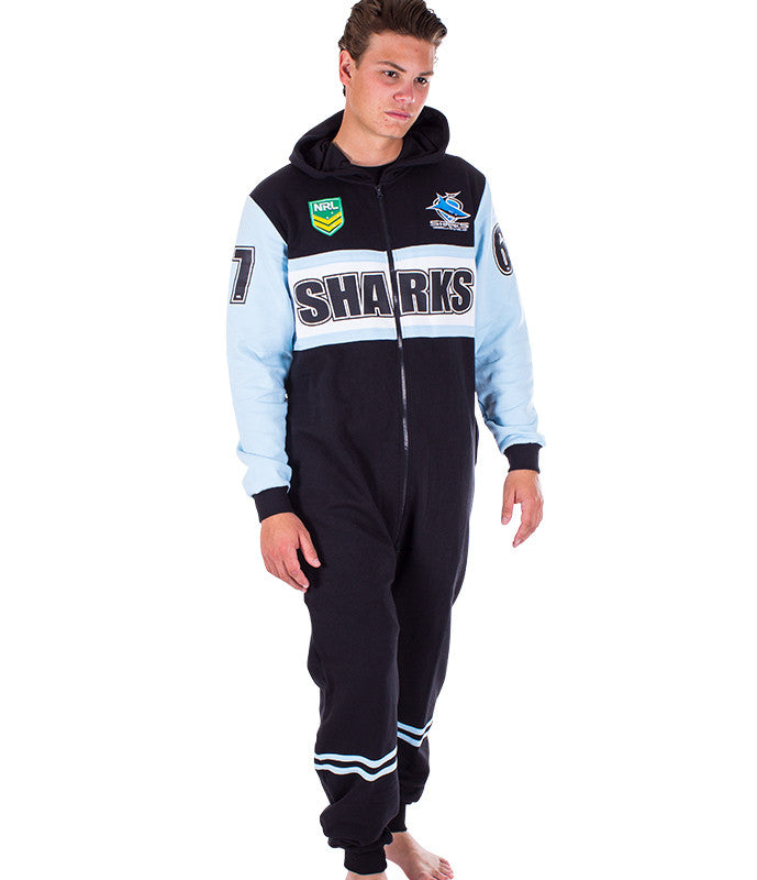 NRL Sharks Adult Onesie AshTabula
