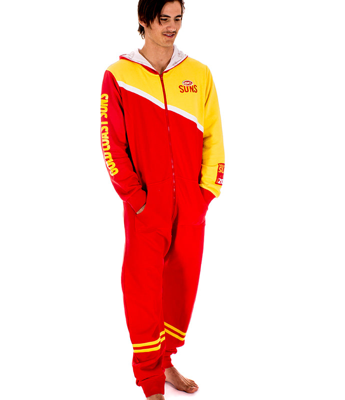 AFL Gold Coast Suns Adult Onesie AshTabula