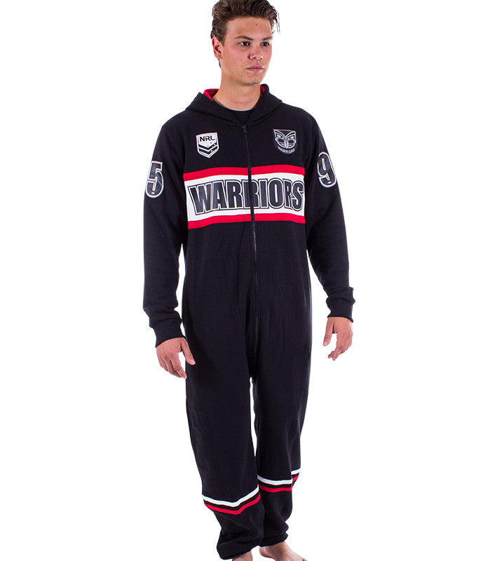 NRL Warriors Adult Onesie Ashtabula