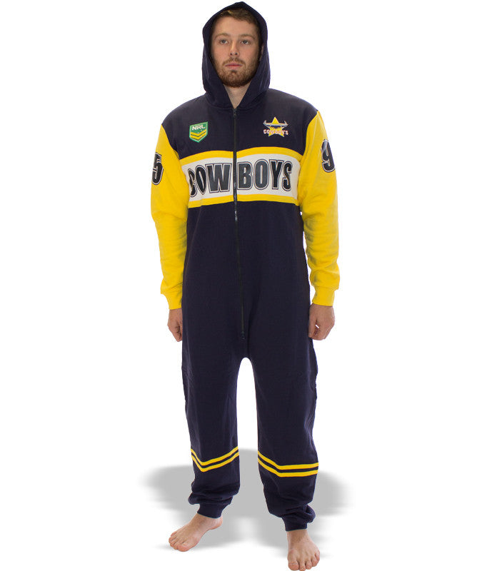 NRL Cowboys Adult Onesie AshTabula